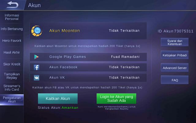 Cara Mudah Bermain Dari Awal Lagi Game Mobile Legend