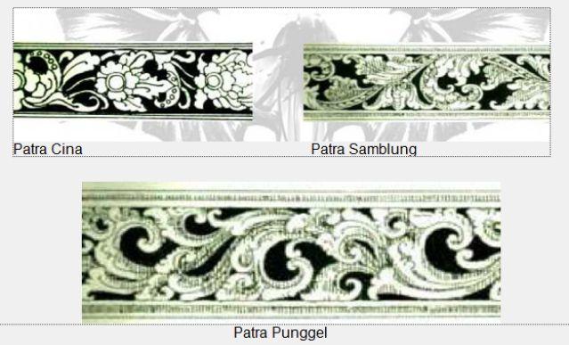 Berbagai bentuk motif pepatran Bali