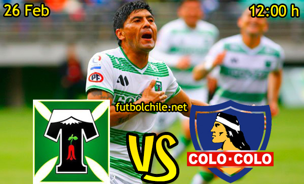 Ver stream hd youtube facebook movil android ios iphone table ipad windows mac linux resultado en vivo, online: Deportes Temuco vs Colo Colo