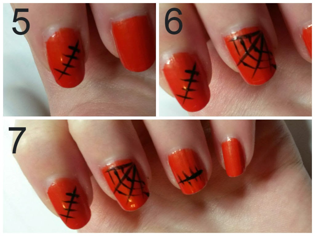 tuto nail art 2 halloween facile sandy 39 s beauty diary. Black Bedroom Furniture Sets. Home Design Ideas