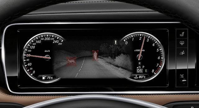 Mercedes Maybach S500 2017 được trang bị Hệ thống hỗ trợ quan sát ban đêm Night View Assist Plus