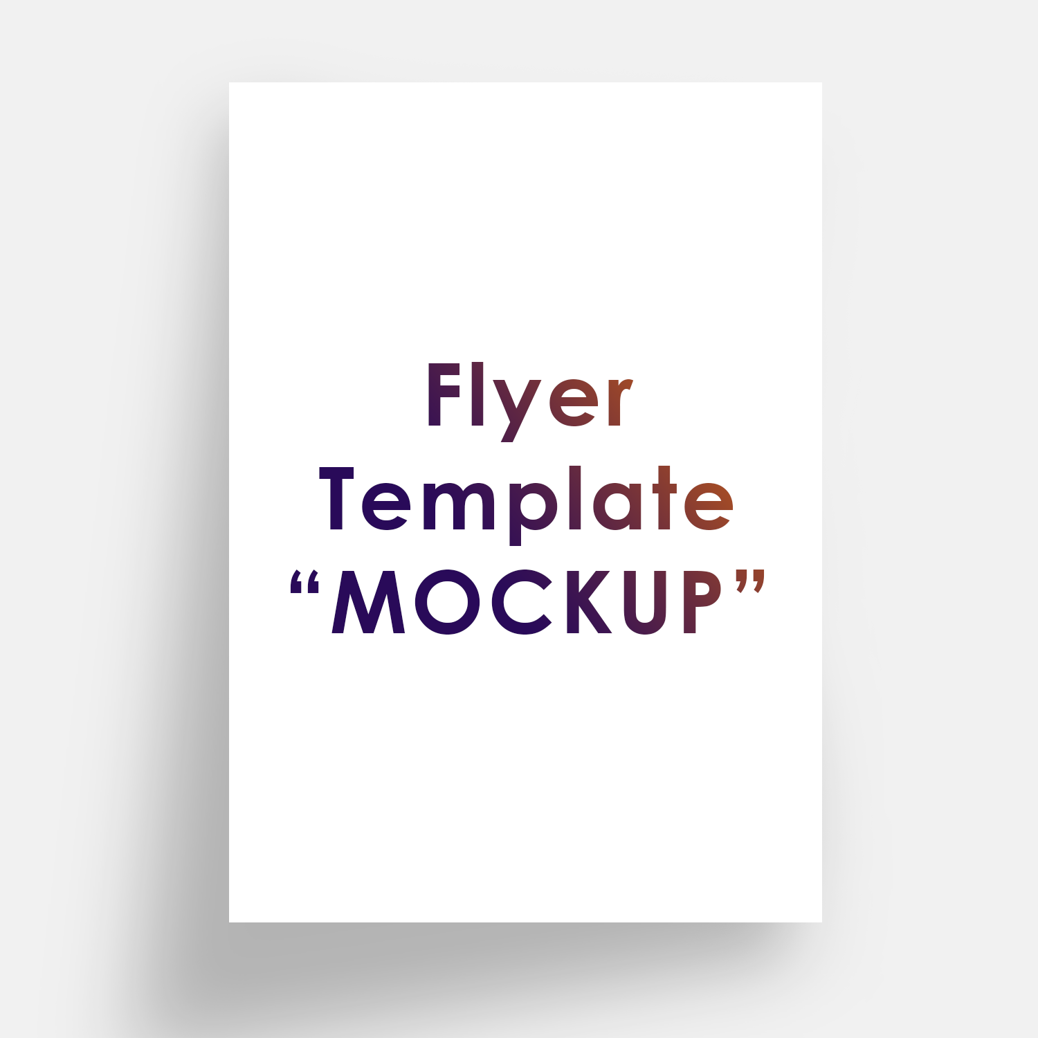 Flyer Template Mockup Free