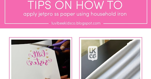 Tips: How to Apply JetPro SS Heat Transfer with A Household Iron