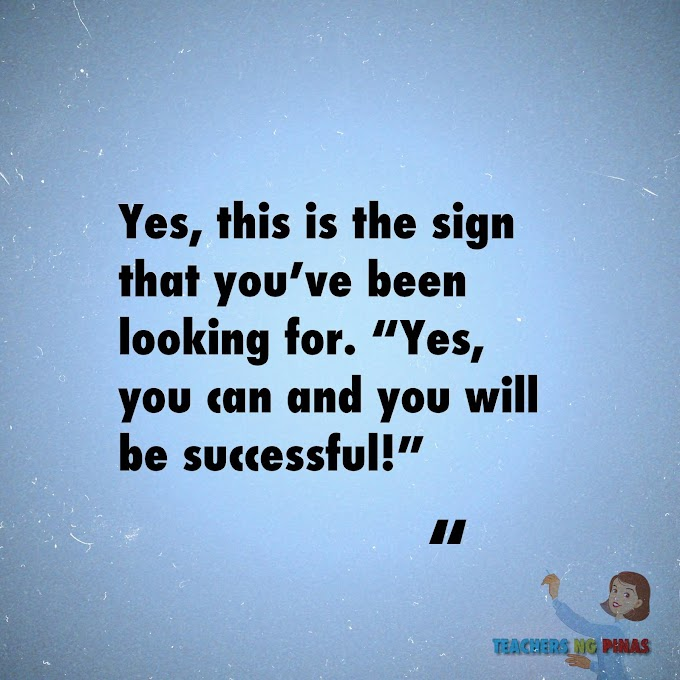 """YES, THIS IS THE SIGN THAT YOU'VE BEEN LOOKING FOR. """"YES YOU CAN AND YOU WILL BE SUCCESSFUL!"""""""
