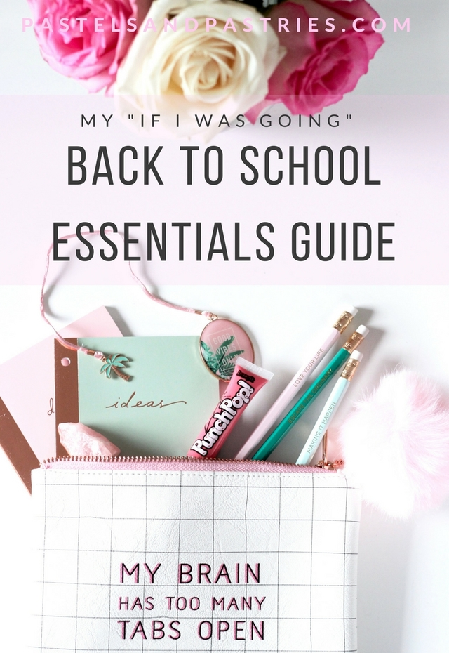 Back to school essentials- Thursday Plantation peppermint oil, Benefit Punch Pop, smashbox, Always X Always weekly note pad, Hobbry, Waterever Forever, Indigo, Saje, Bando