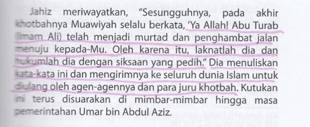 Syiah Menuduh Muawiyah Berkata Ali bin Abi Thalib telah Murtad