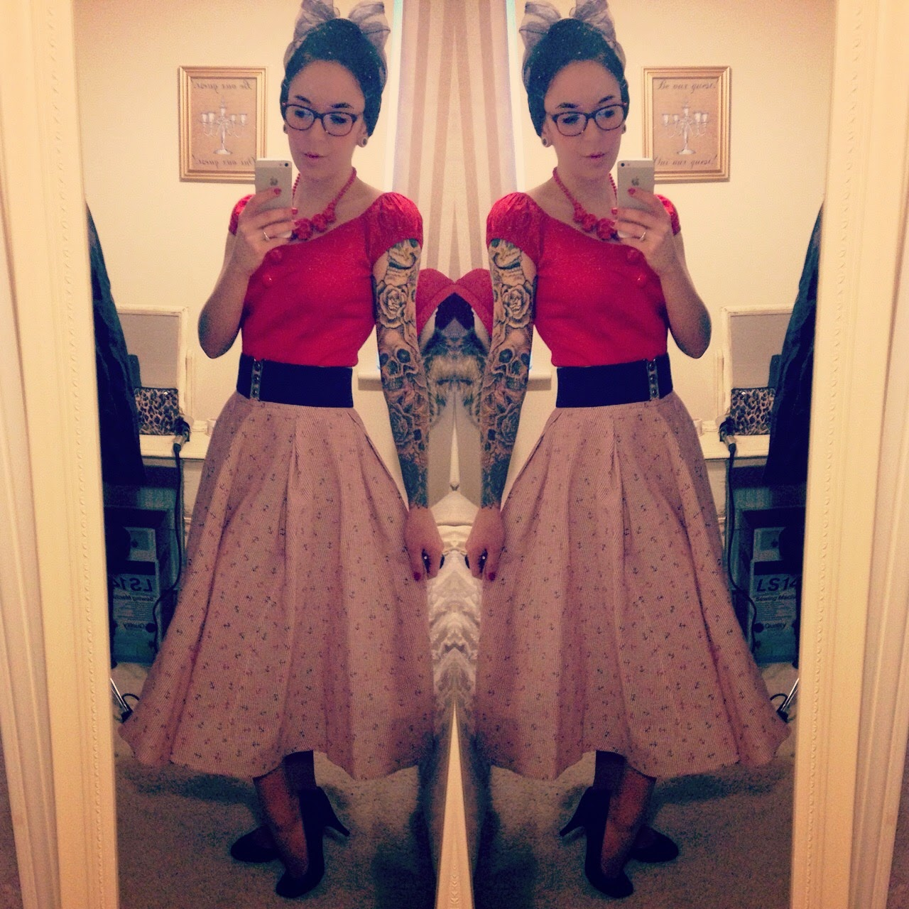 Florence anchor skirt from Collectif