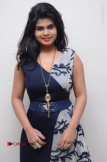 Telugu Actress Alekhya Stills in Blue Long Dress at Plus One ( 1) Audio Launch  0093.jpg