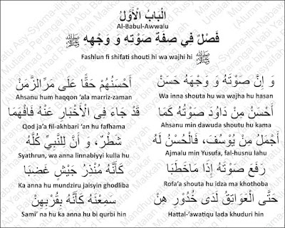 Suara dan Wajah Nabi Muhammad Rosululloh shallallahu 'alayhi wa sallam