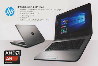 HP 14-AF115AU - Laptop Terlaris di Indonesia