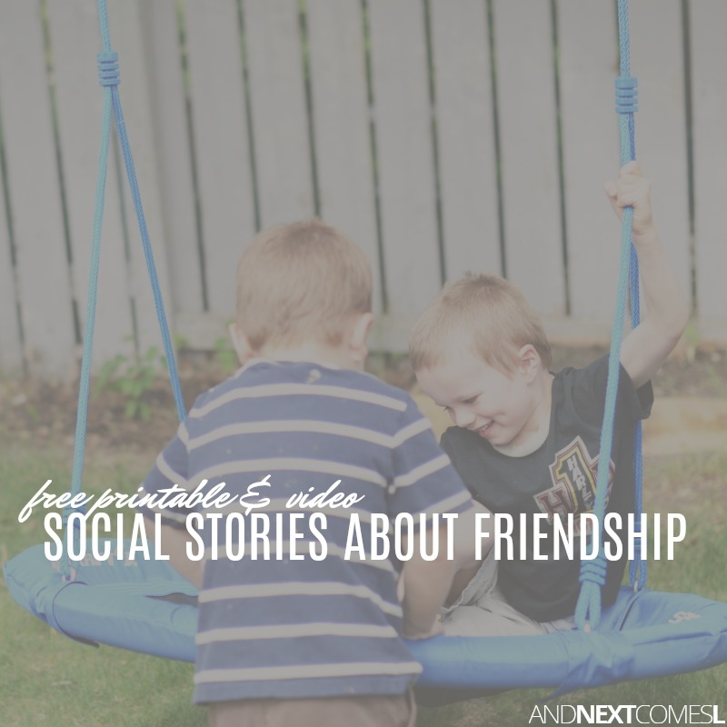 Free Social Stories About Friendship   And Next Comes L