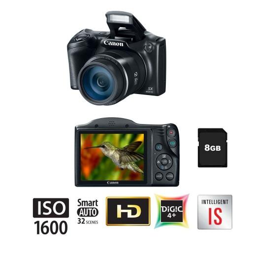 Câmera Digital Canon Powershot Preta, Zoom Óptico de 30x, Estabilizador Inteligente, e Vídeo HD