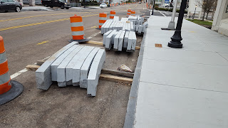 new curbing for the downtown construction project
