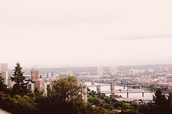 2 days in Portland aerial tram view from top
