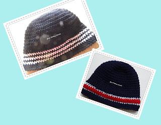 crochet beanie, crochet men headwear, free crochet cap pattern