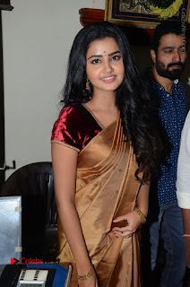 Actress Anupama Parameswaran Stills in Silk Saree with Shatamanam Bhavati Team at Sandhya Theater  0033.JPG