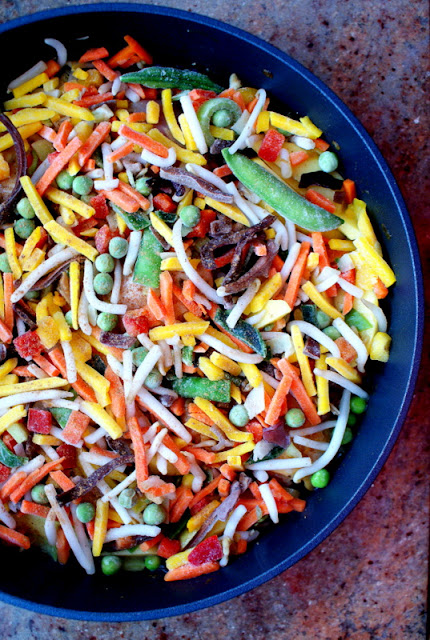 hortex,mrożonki hortex,kurczak z patelni z warzywami, szybki obiad,dania jednogarnkowe,