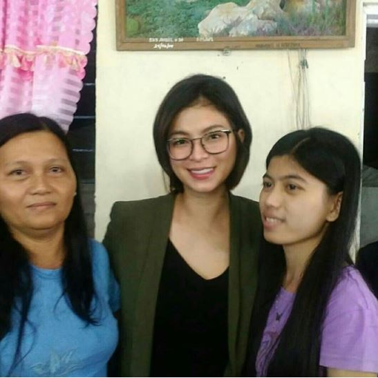 IN PHOTOS: Angel Locsin Visits The Wake Of Her Fan.