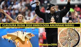 Simbología anunnaki clausura mundial Rusia 2018 – NIBIRU planeta X Nicky Jam #illuminati #Katecon2006 #Katecon2006