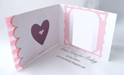 Daughter valentine, inside. Designed by Grace M. Baxter