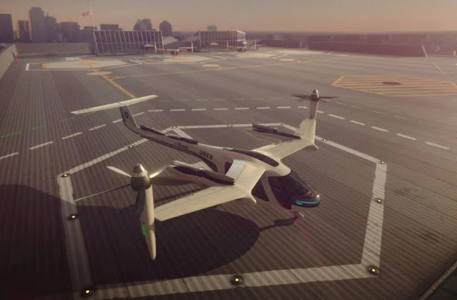 UBER и NASA обьединятся для создания летающего такси