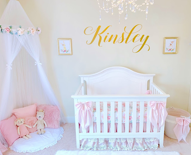 {VIDEO} Nursery Reveal! | Pink & Gold Baby Girl Room Tour