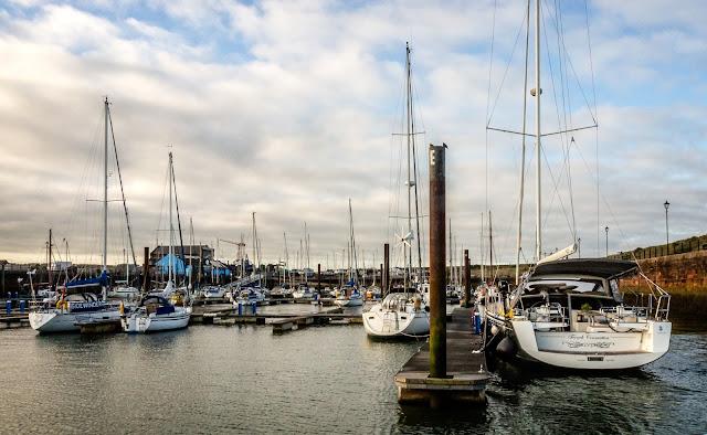Photo of Maryport Marina in the sunshine on Tuesday morning