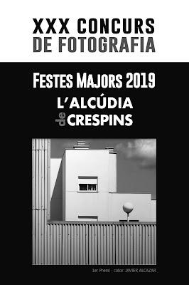 """CONVOCATÒRIA del XXX CONCURS DE FOTOGRAFIA """"Festes Majors 2019"""" de L'Alcúdia de Crespins."""