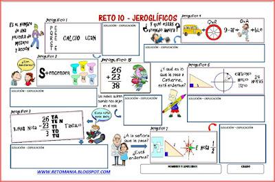 Jeroglífico, Jeroglíficos, Jeroglíficos escolares, Jeroglíficos con solución, Jeroglíficos para niños, Jeroglíficos para estudiantes, Retos Matemáticos, Desafíos matemáticos, Problemas matemáticos