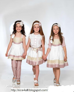 ed5552b95 ... موضة صيف 2012 للبنوتات ملابس أطفال 2012 موديلات فساتين بنات مودرن