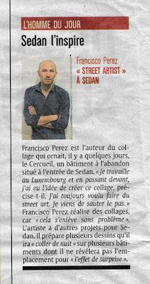 article de presse de l'ardennais au sujet du street art faubourg du menil à sedan