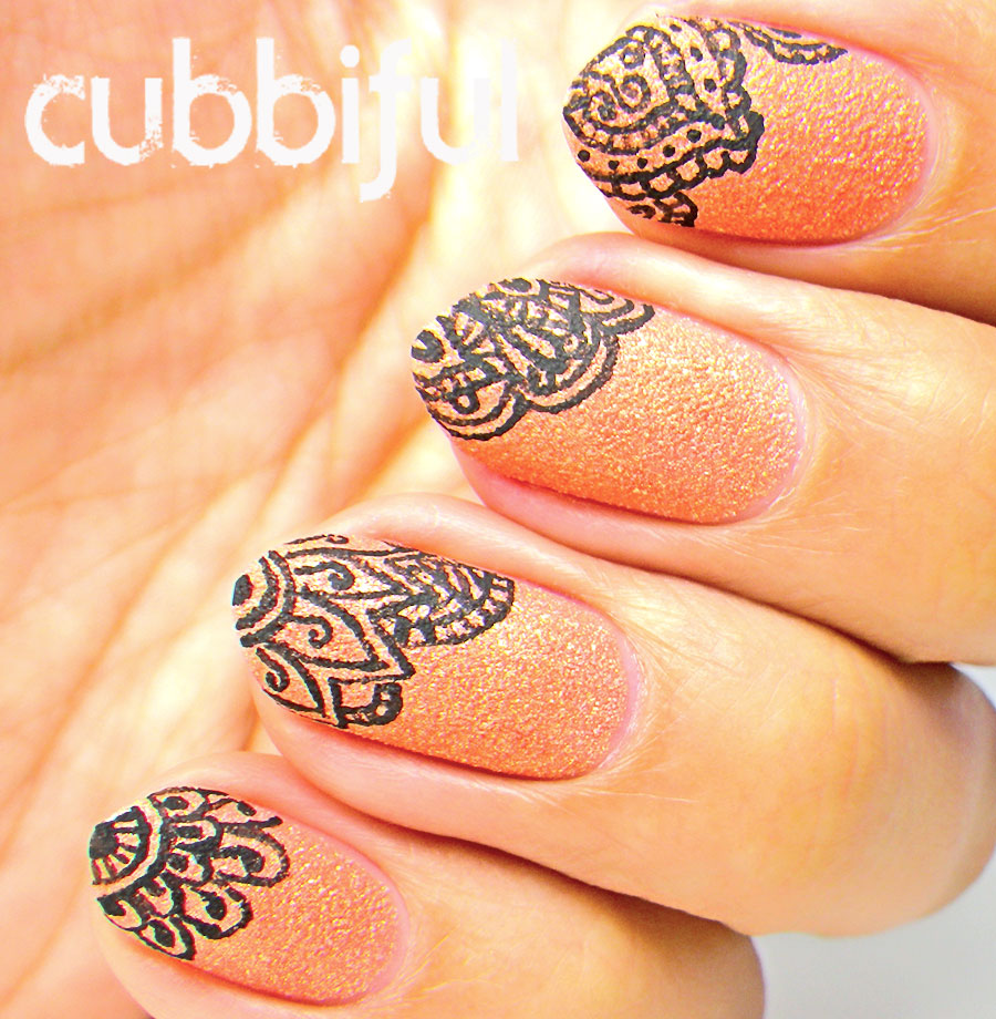 Cubbiful Summer Henna Nails