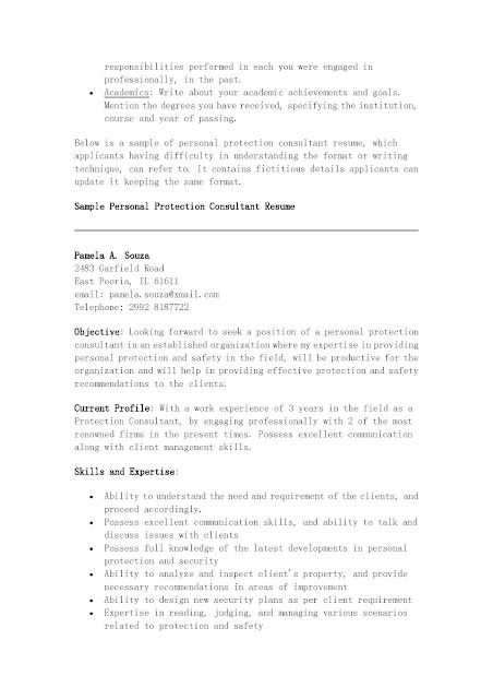 It Consultant Resume ophion - Sample Personal Protection Consultant Resume