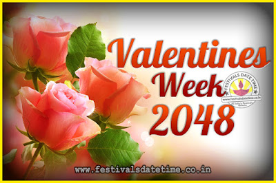 2048 Valentine Week List : 2048 Valentine Week Schedule, Hug Day, Kiss Day, Valentine's Day 2048