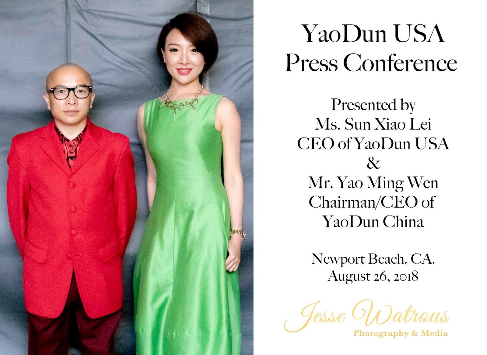YaoDun USA Press Conference | Newport Beach, CA.