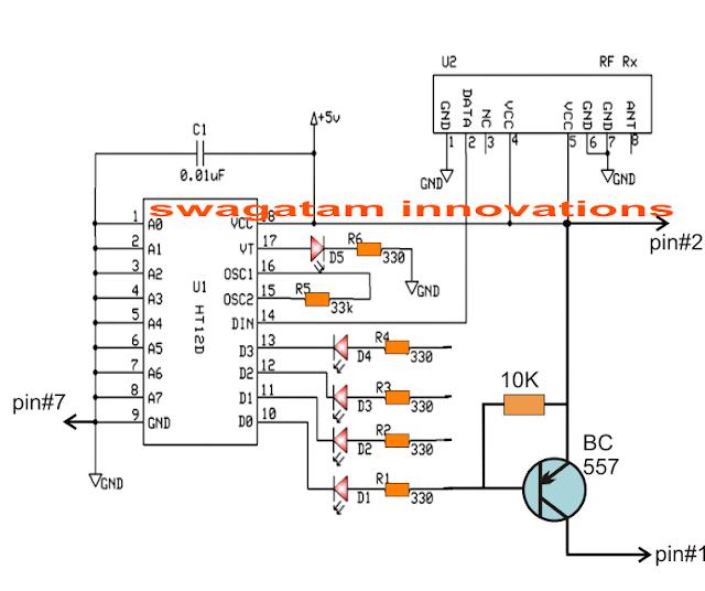 camera remote control receiver circuit