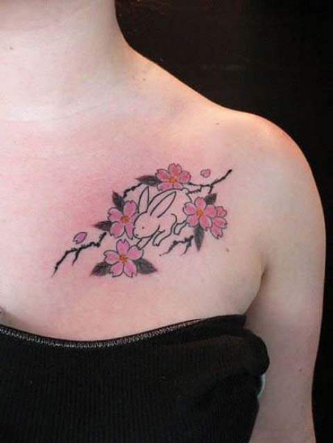 30 Stunning Cherry Blossom Tattoos and Meanings