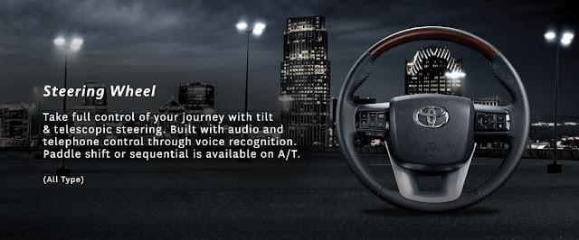 Steering Wheel Toyota New Fortuner