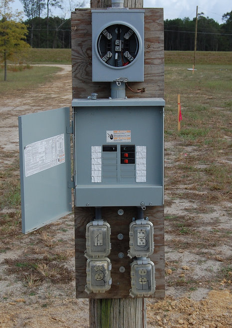 50 Amp Gfci Breaker Wiring Diagram Division Land Section Temporary Service Pole Installation In Toronto | Electrical Contractor