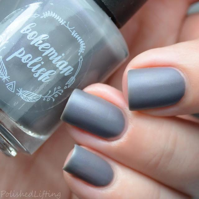 gray matte nail polish