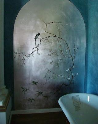 ציור הקיר לאמבטיה בסגנון קלימט