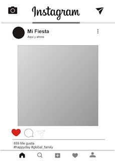 Ejemplo de imprimible gratis: Marco Instagram para photocall