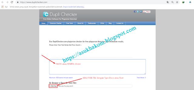 cara cek keunikan artikel blog dengan duplichecker