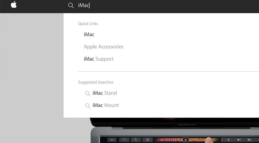 Apple site search