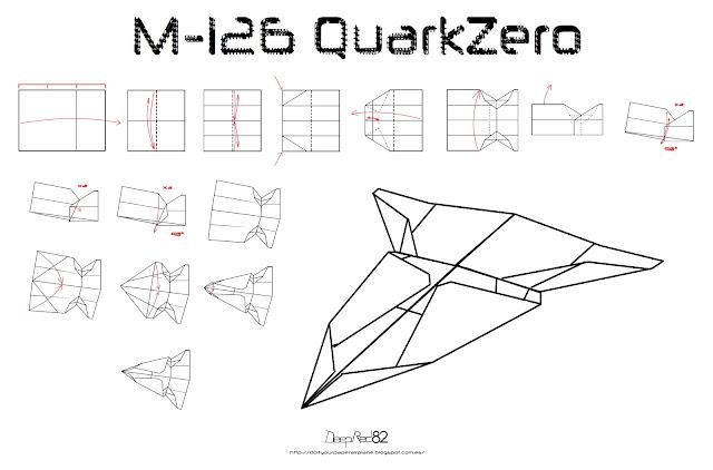 Infografía avion de papel M-126 QuarkZero
