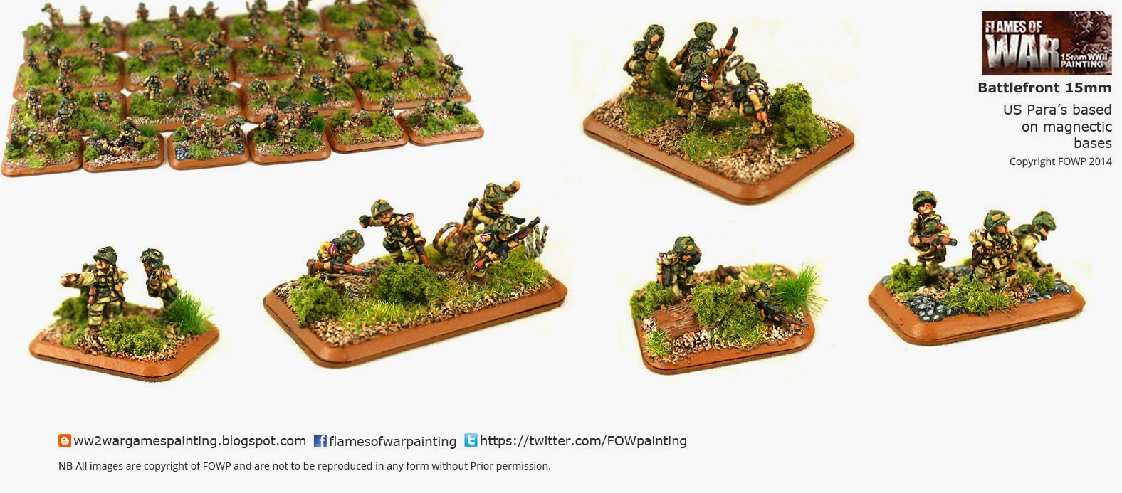 US Paras Battlefront 15mm based with magnetic basing