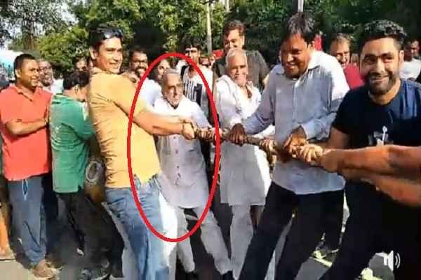 minister-krishan-pal-gurjar-participate-in-rassi-competition-in-rahgiri