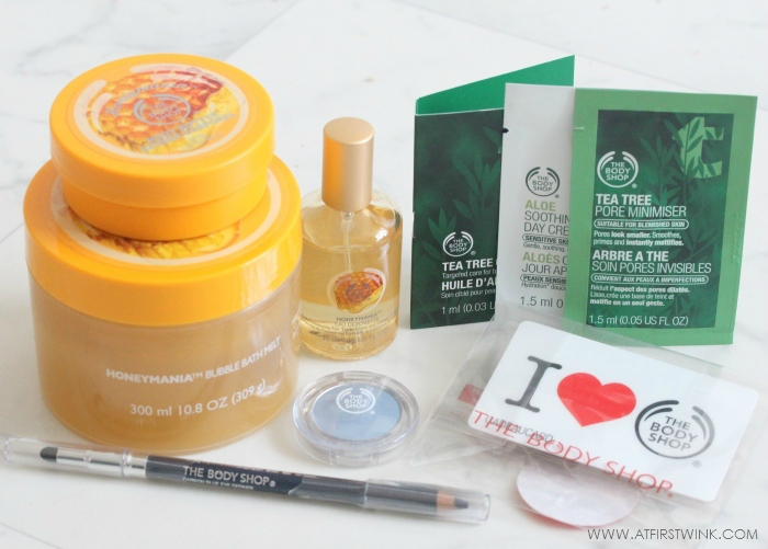 the Body Shop goodybag