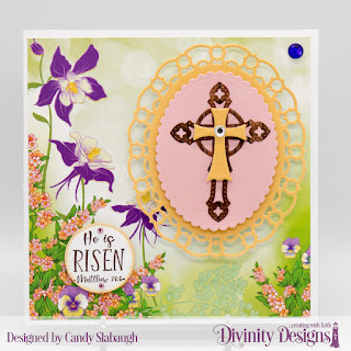 Stamp Set: Glorious Easter Embossing Folder/Die Duo: Cross   Custom Dies: Scalloped Ovals, Layered Lacy Ovals, Pierced Circles   Paper Collection:  Spring Flowers 2019