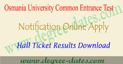 OUCET 2018 notification, online apply, hall ticket, results ou pgcet